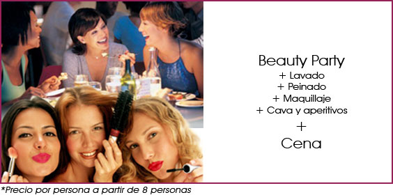 beauty party y cena en madrid