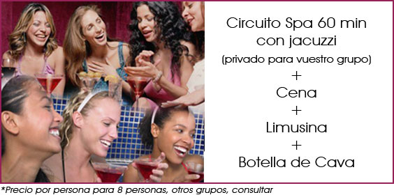 spa cena y limusina en madrid